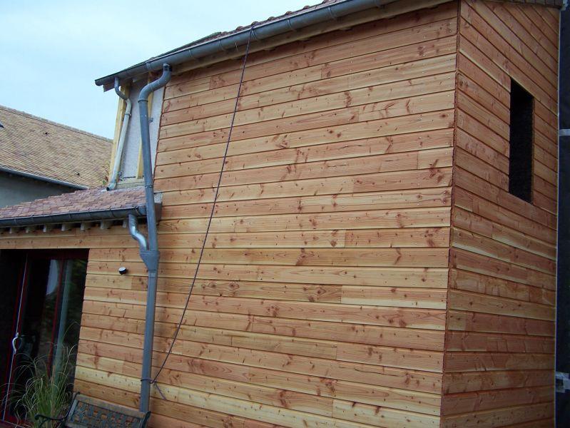 5 Pose du bardage u00b7 renovation ecologique autoconstruction # Angle Bardage Bois